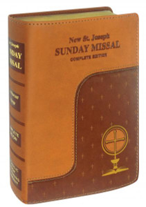 Brown Imitation Leather Saint Joseph Sunday Missal - NEW EDITION