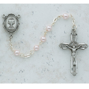 4mm Deluxe Pearl Communion Rosary