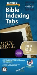 Bible Tabs: Solid Gold with Black Lettering (Catholic)
