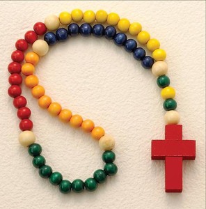 A Little Person's Rosary with Nontoxic Wood Beads