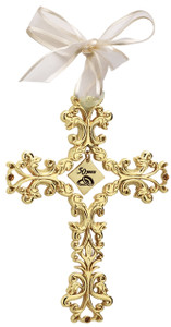 50th Anniversary Gold Filigree Cross