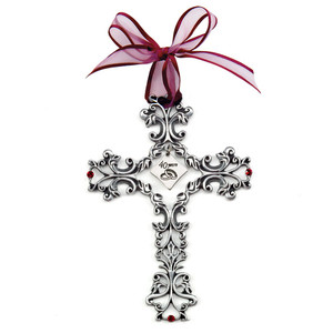 40th Anniversary Pewter Filigree Cross
