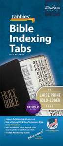 Bible Tabs: Gold Edges with Black Lettering - Large Print