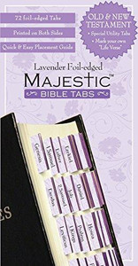 Lavender Foil-edged Majestic Bible Tabs
