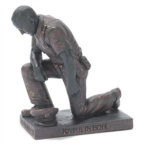 Kneeling Police Officer Figurine