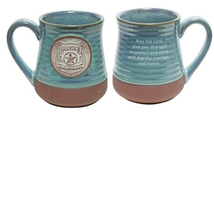 Police Officer  Pottery Mug