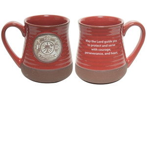 Firefighter Pottery Mug