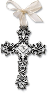 60th Anniversary Pewter Filigree Cross