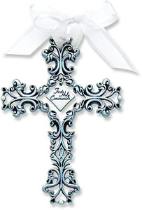 First Holy Communion Pewter Filigree Cross