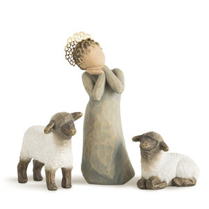 Little Shepherdess Willow Tree® Nativity Set
