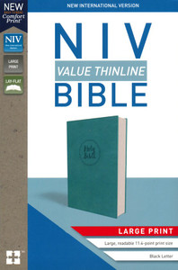 NIV-Thinline Bible, Large Print (Imitation Leather, Blue)