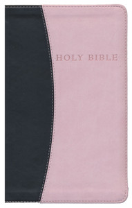 KJV Soft Brown/ Pink Leatherette Bible