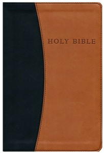 KJV Soft Brown/ Black Leatherette Bible