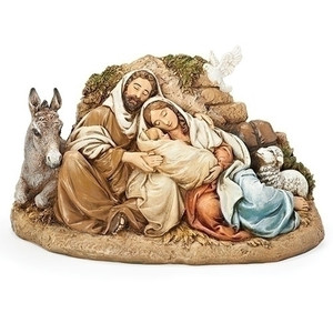 "9.5""H Restful Holy Family Figure"