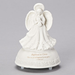 Baptized in Christ Musical Angel Figurine