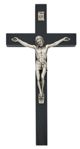 Black Painted Wood Crucifix