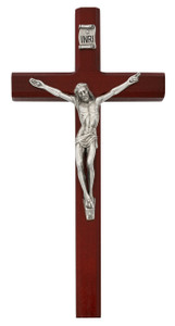 Cherry Stained Wood Crucifix