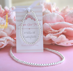 Little Girl Pearls Set with Organza Bag