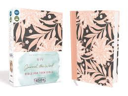 NIV, Journal the Word Bible for Teen Girls, Hardcover, Pink Floral: Includes Hundreds of Journaling Prompts!
