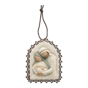 Holy Family Willow Tree® Metal-Edged Ornament