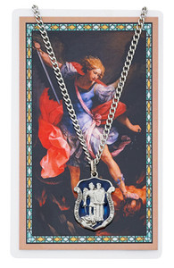 St. Michael Prayer Card and Large Medal Set Police Officer