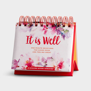 It Is Well: One-Minute Devotions for Doing Good and Feeling Great - Perpetual Calendar