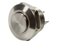 Mitec 12mm Stainless Steel PushButton Switch  RaisedTop