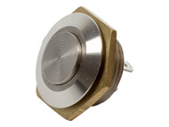 Mitec MSW-1602 16mm Stainless Steel PushButton Switch RaisedTop