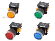 ATI LXG22 22mm Push Button Momentary Switch Illuminated LED NO