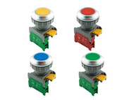 XB30 ATI 30mm Momentary Push Button Switch 1NO Non-Illum Flush