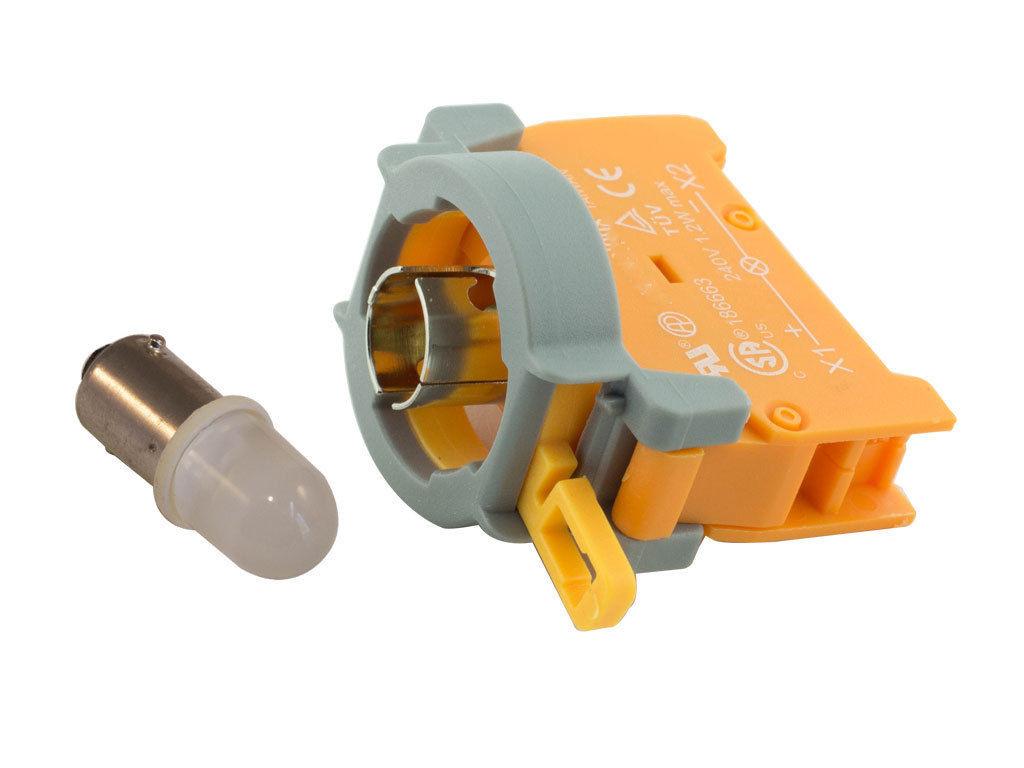 Alpinetech NPL-22 22mm 24V AC//DC LED Pilot Indicator Light Blue