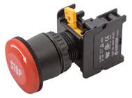 LEB22 ATI Red 22mm Emergency Stop Push Button Switch EStop EPO Mushroom