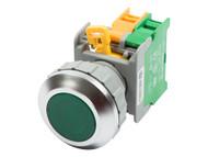 ATI LXB-30 30mm 1NO Momentary Push Button Switch AC DC LED Illuminated - Flush Top