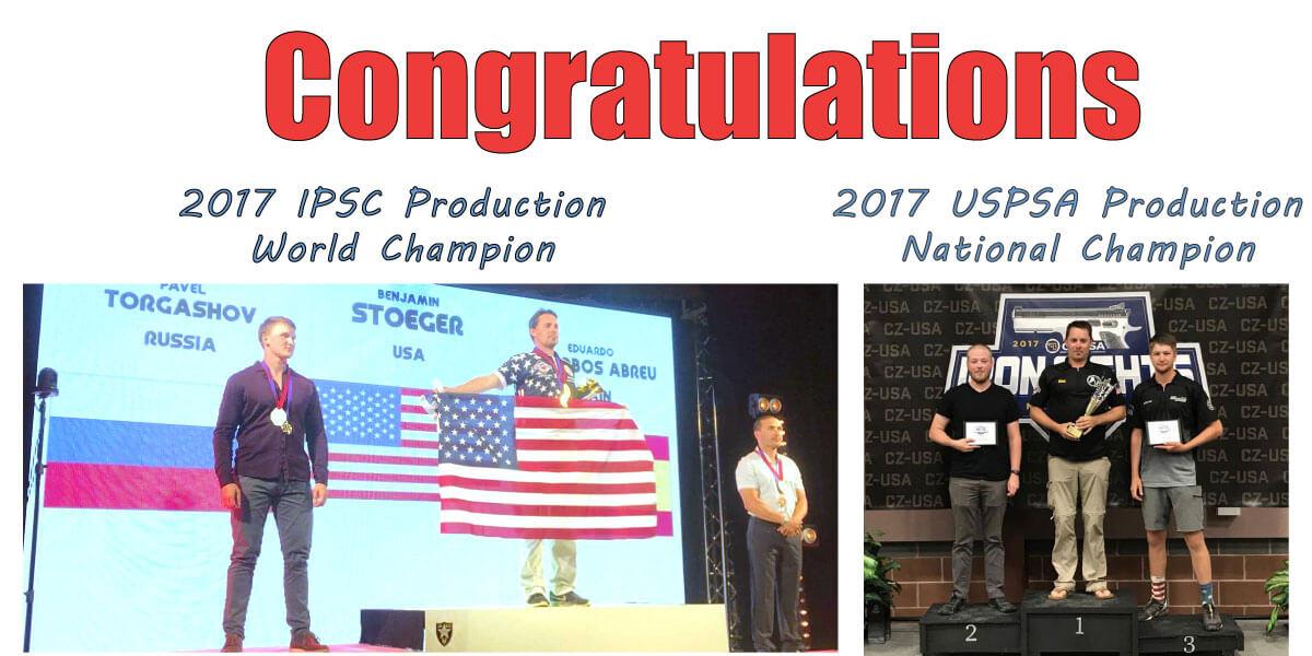 Ben Stoeger 2017 USPSA IPSC Champion
