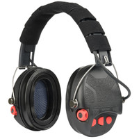 Liberator HP Electronic Hearing Protection Ear Muffs by Safariland (TCI-LIBHP-1.0-BLK/RED) V00046884