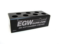 380 7-Hole Chamber Checker Case Gauge by EGW (70181)