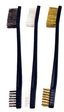 DAA Steel, Copper, and Nylon Cleaning Brush Set by Double Alpha Academy