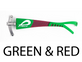 Pilla Outlaw X6 Shooting Eye Glasses Green red
