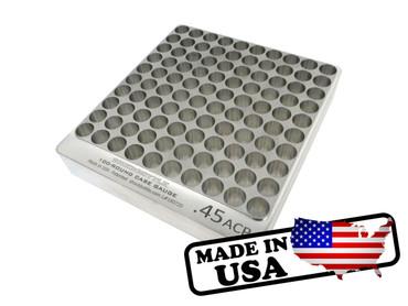 100-Hole 45 ACP Chamber Checker Cartridge Case Gauge Hundo Casegauge HUNDO by SHockbottle shock bottle