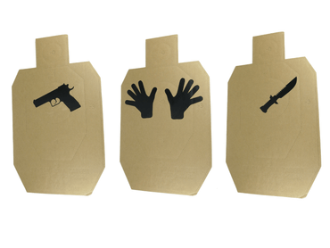 IDPA Target Stickers (Hands, Gun, Knife)