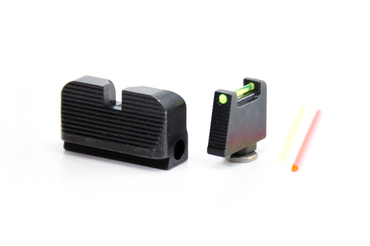 TTI Ultimate Fiber Optic Sights Set for Glock with Optic Cut by Taran Tactical