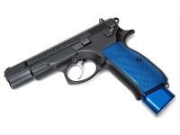 CZ SP-01 Shadow Contoured & Textured Grips by Henning (H023-CZ75) Blue