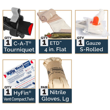 M-FAK, Mini First Aid Kit by North American Rescue (80-0494)