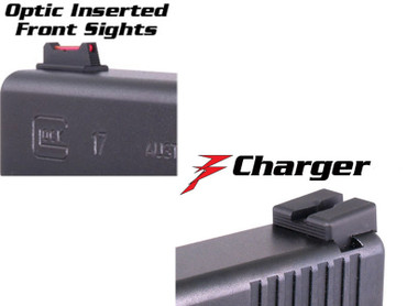 Dawson Precision Sight Set for Glock 17, 19, 22, 23, 26, 27, 31, 32, 33, 34, 35, 36 - Fiber Optic Front, Charger Rear