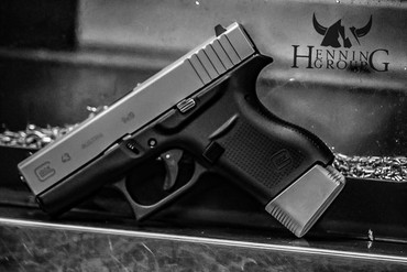 Glock 43 2 Magazine Grip Extension By Henning