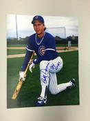 BOB DERNIER - Chicago Cubs - AUTOGRAPHED 8x10