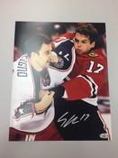 SHELDON BROOKBANK - Chicago Blackhawks - Autographed 8x10 (Fighting)