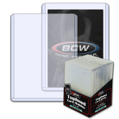BCW 3x4 x 2mm Thick Card Topload Holder - 79 pt