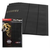 BCW Gaming Side Loading 18 Pocket Pro Pages - Black