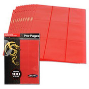 BCW Gaming Side Loading 18 Pocket Pro Pages - Red
